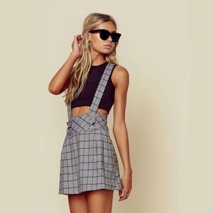 Planet Blue Skirts - New plaid overall skirt